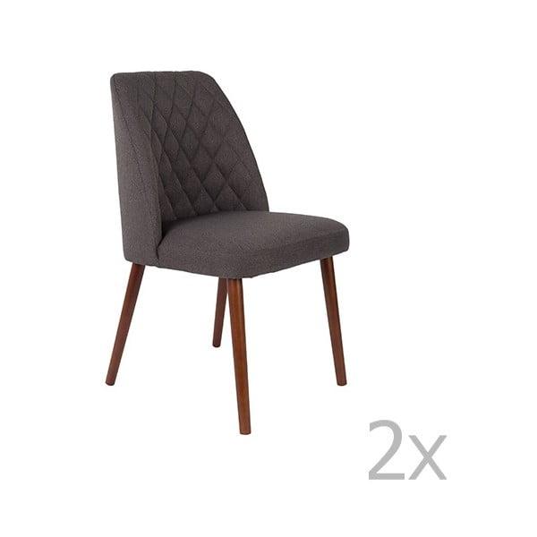 Set 2 scaune White Label Conway, negru