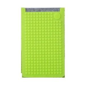 Univerzální velký obal na telefon PixelArt, grey/aqua green
