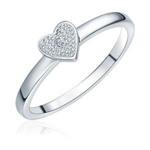 Stříbrný prsten s pravým diamantem Tess Diamonds Aline, vel.58cm