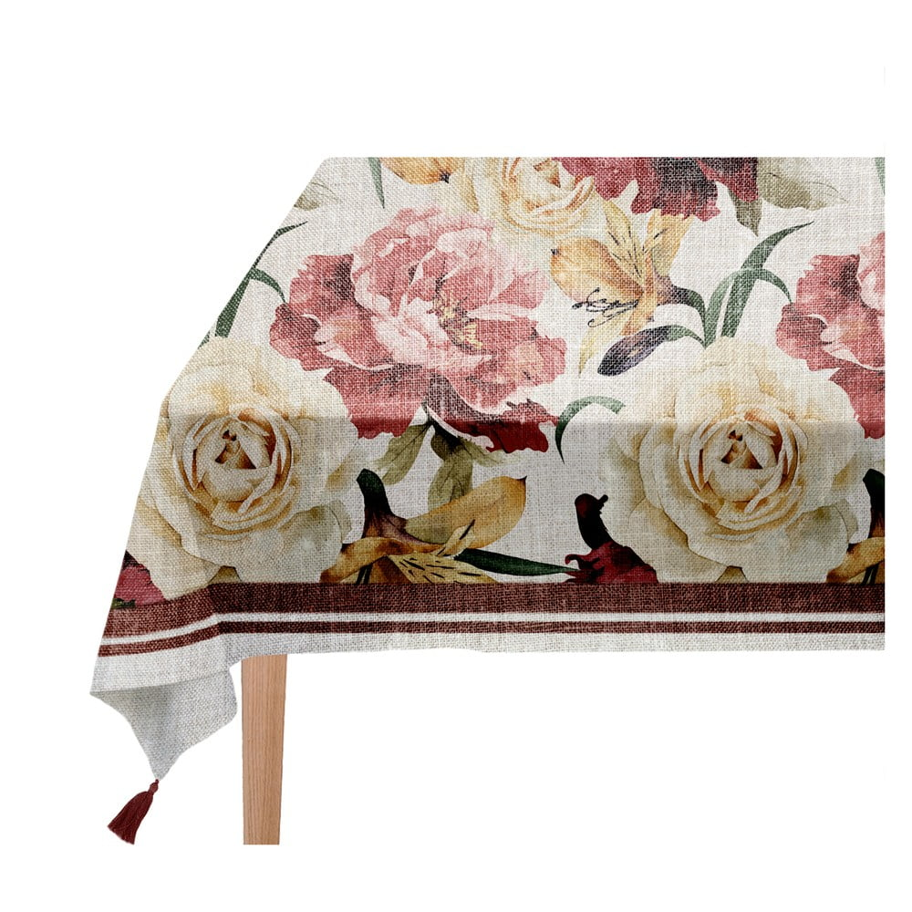 Ubrus Linen Couture Roses 140 x 140 cm
