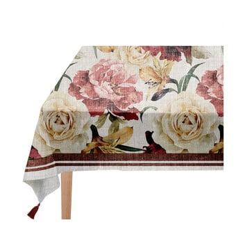 Față de masă Linen Couture Roses, 140 x 200 cm imagine