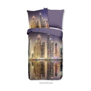 Povlečení na jednolůžko z mikroperkálu Muller Textiels Night City, 135 x 200 cm