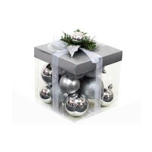 Set 18 globuri Ixia Decor, argintiu