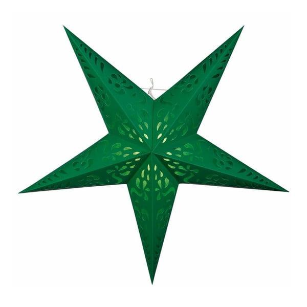 Závěsná dekorativní hvězda Five Green, 60 cm