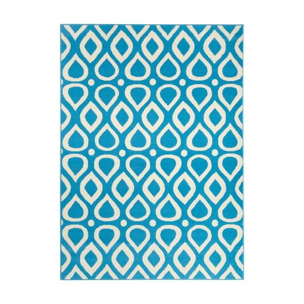 Modrý koberec Vela, 200x290 cm