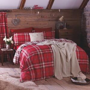 Lenjerie de pat Catherine Lansfield Kelso Red, 135 x 200 cm, roșu