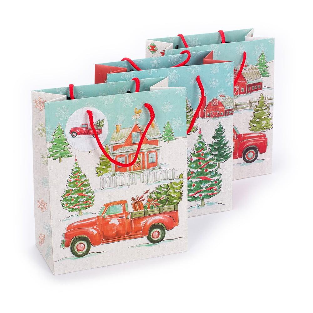 Sada 3 papírových dárkových taštiček Tri-CoastalDesign Christmas
