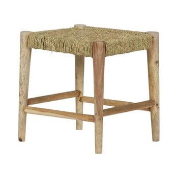 Taburet din lemn BePureHome Wicker de la BePureHome