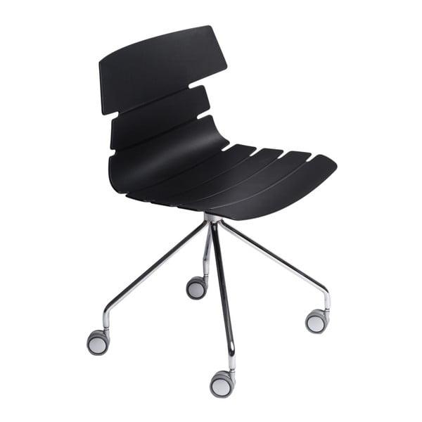 Sada 2 černých židlí D2 Techno Roll