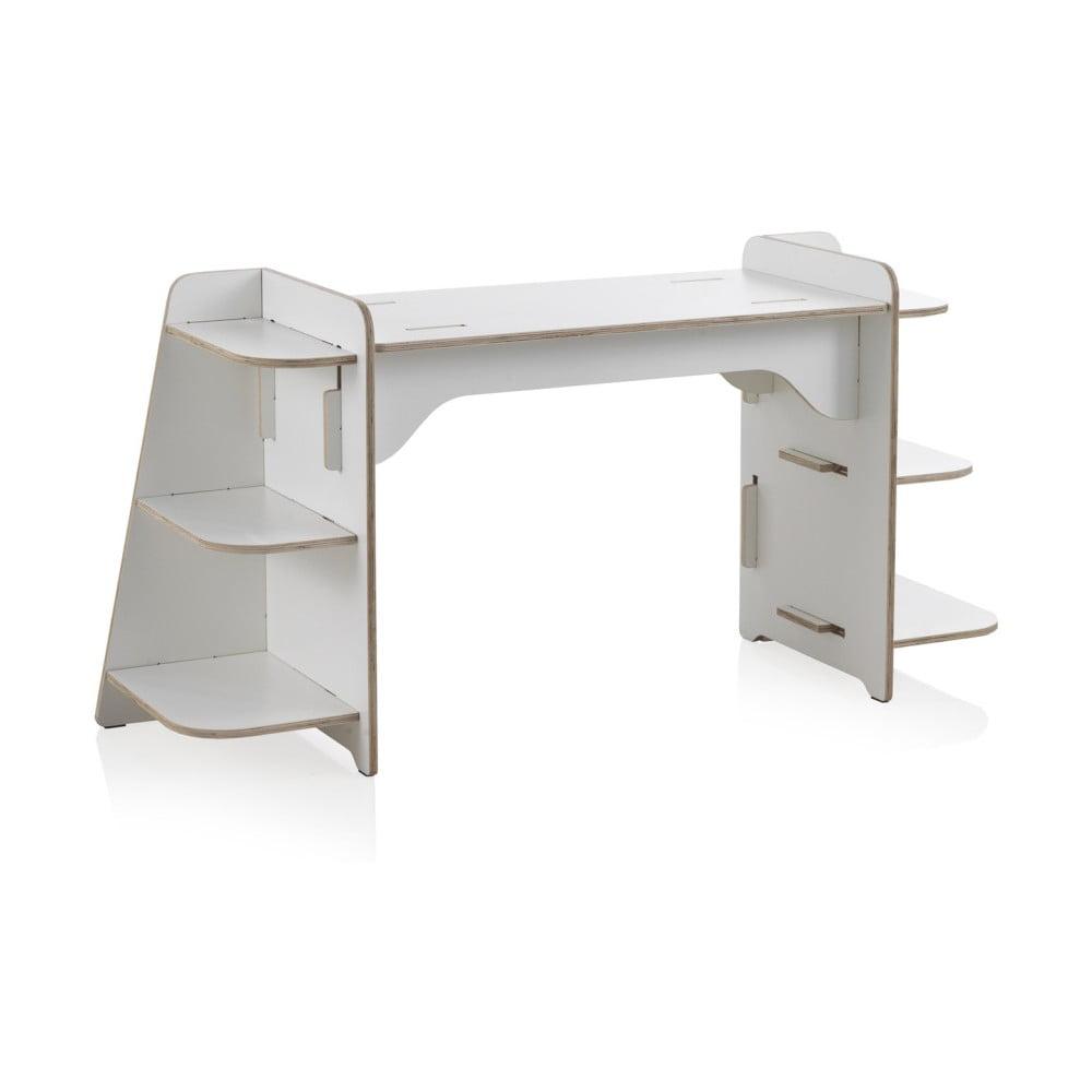 Bílý dětský psací stůl z překližky Geese Piper Geese