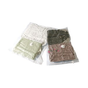 Set 2 saci pentru depozitare haine cu vacuum Compactor Clear