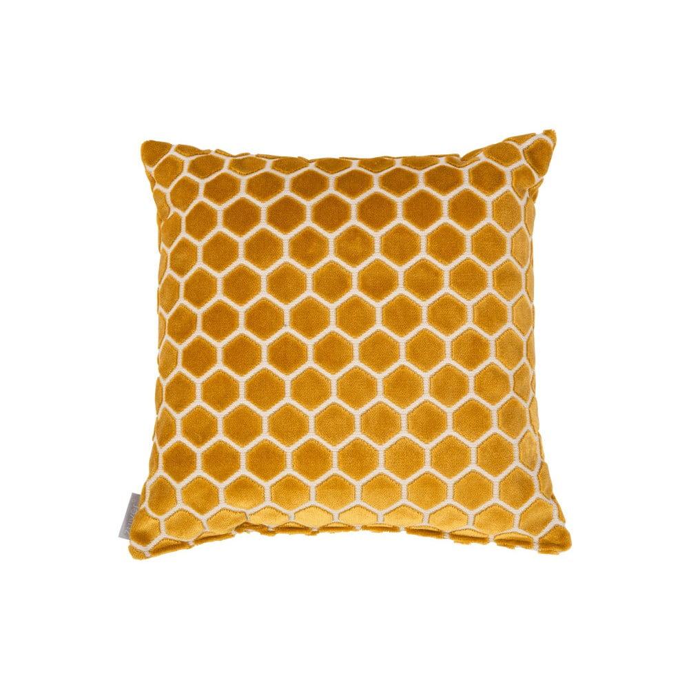 Žlutý polštář s výplní Zuiver Monty, 45 x 45 cm