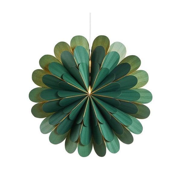 Decorațiune luminoasă suspendată Markslöjd Marigold, ø 45 cm, verde