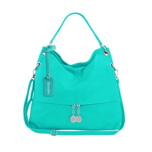 Mentolově zelená kožená kabelka Maison Bag Evelyne