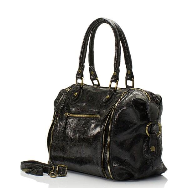 Kožená kabelka Kiara, černá