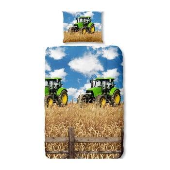 Lenjerie de pat din bumbac pentru copii Good Morning Farmer 140 x 200 cm