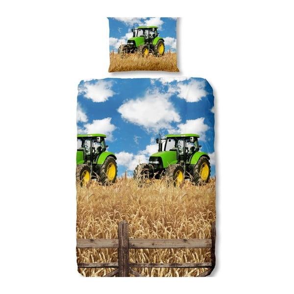Detské bavlnené obliečky na jednolôžko Good Morning Farmer, 140×200 cm