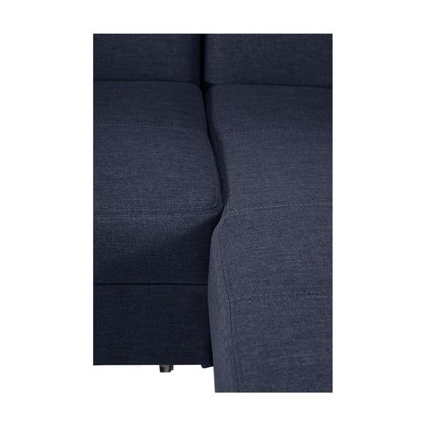 Modrá rozkládací pohovka Modernist Icone, pravý roh