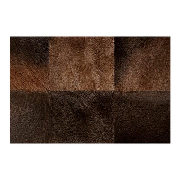 Hnědý koberec z kůže buvolce Pipsa Blesbok, 100x160 cm