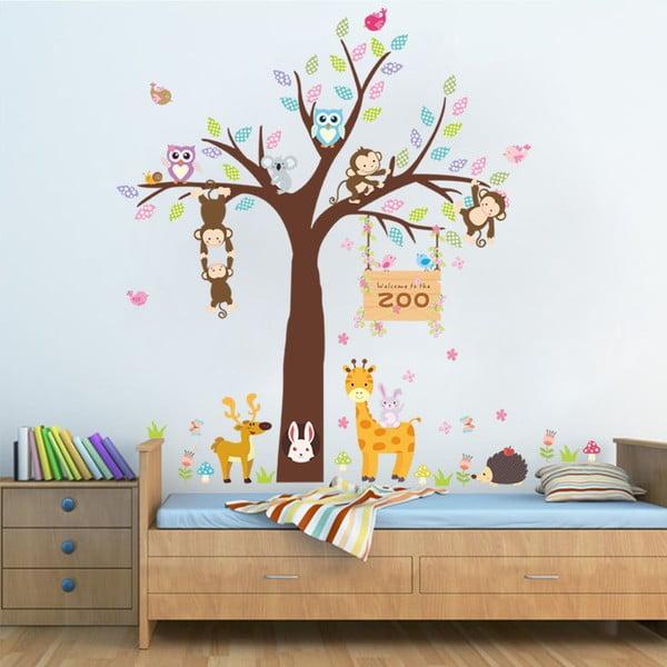 Autocolant de perete Ambiance Zoo Love, 105 x 105 cm