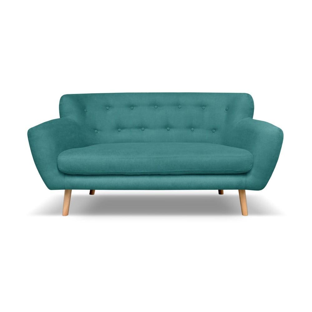 Tmavě zelená pohovka pro dva Cosmopolitan design London