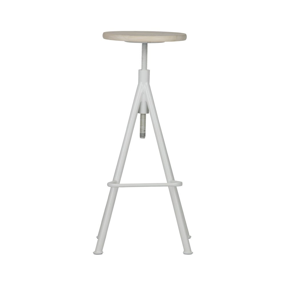 Bílá dřevěná stolička De Eekhoorn Lily