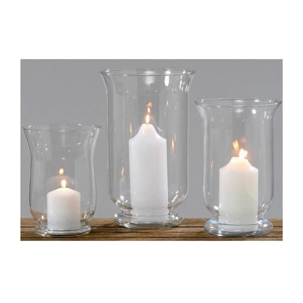 Sada 3 skleněných svícnů Botze Light