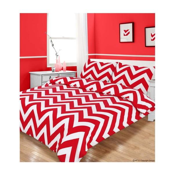 Povlečení Zigzag Red, 135x200 cm