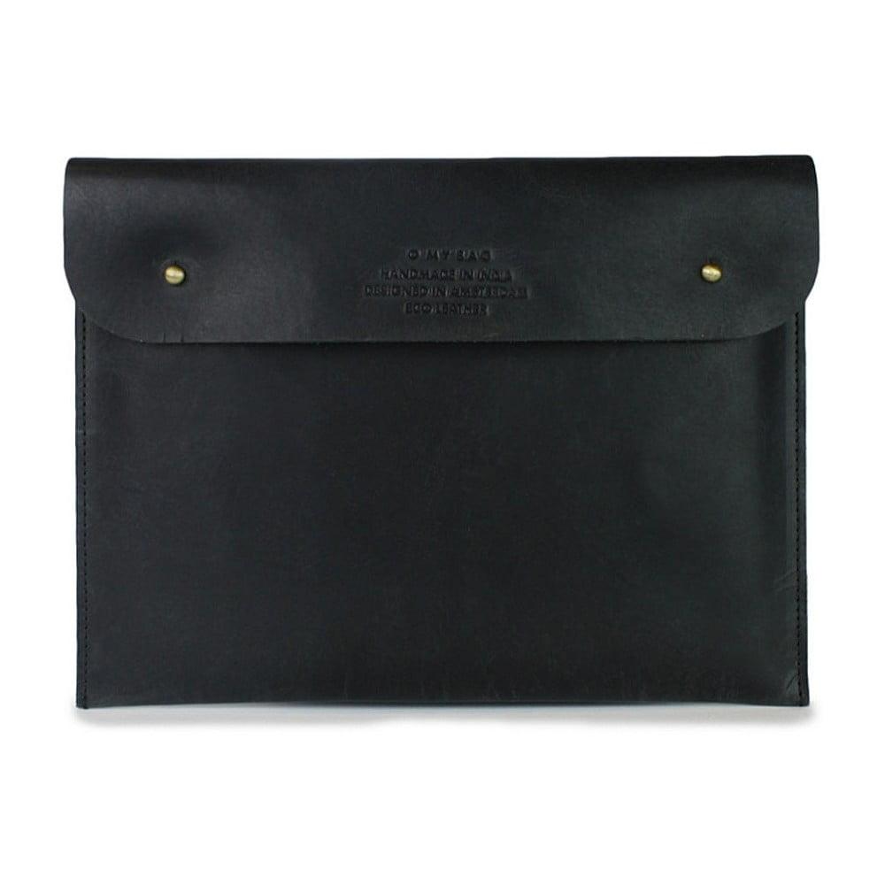 Černé kožené pouzdro na iPad O My Bag Sleeve