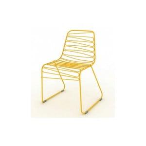Žlutá stohovatelná židle Magis Flux
