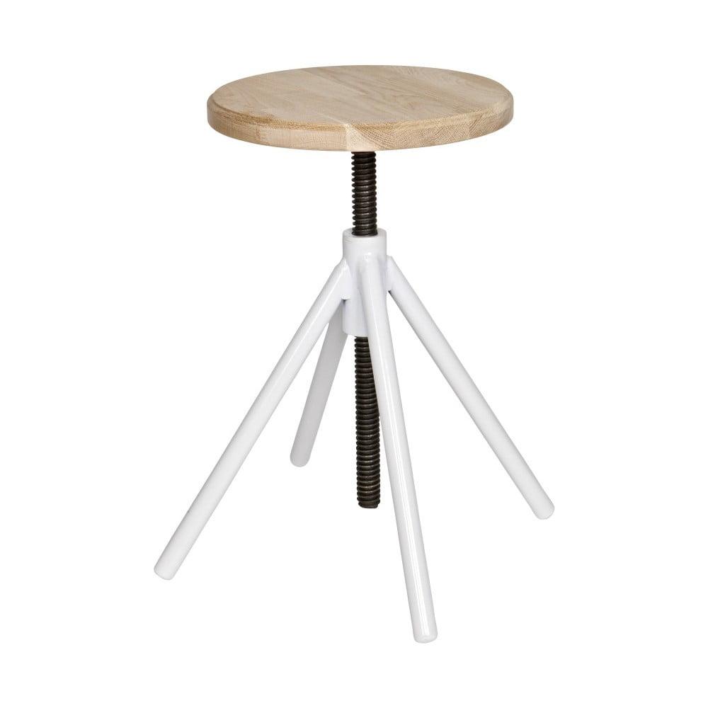 Dřevěná stolička s bílými nohami De Eekhoorn Lily