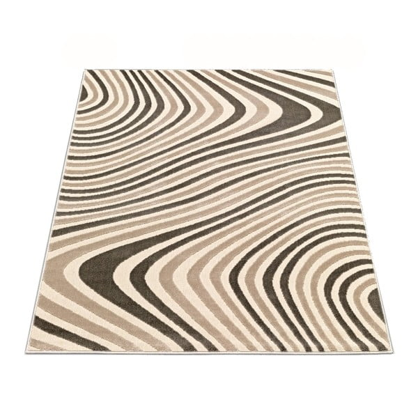 Koberec Webtappeti Reflex Brown Stripes, 140 x 200 cm