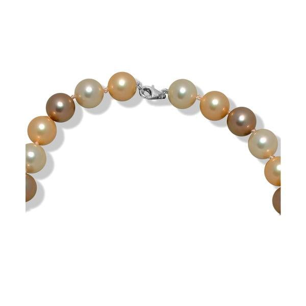Béžový perlový náhrdelník Mara de Vida New Morning, délka 60cm