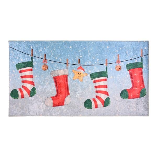 Koberec Vitaus Christmas Socks, 80 x 150 cm