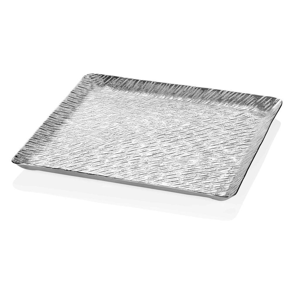 Podnos ve stříbrné barvě Mia Uru, 38 x 38 cm