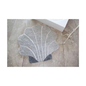Koupelnová předložka Alessia Shell Grey, Ø 90 cm