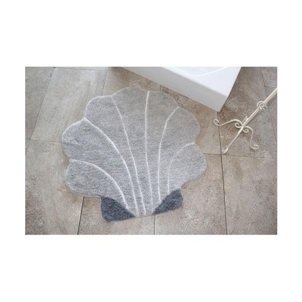 Koupelnová předložka Shell Grey, ⌀ 90 cm