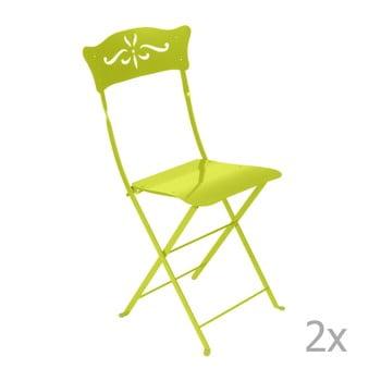 Set 2 scaune grădină pliabile Fermob Bagatelle, verde