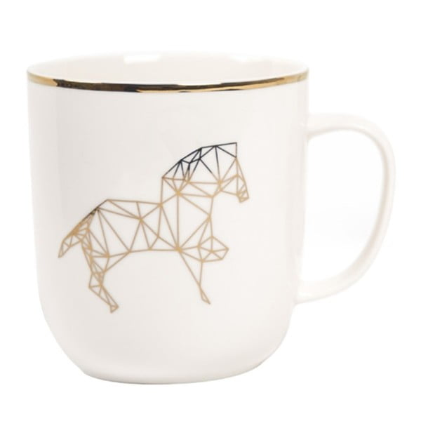 Hrnek z kostního porcelánu Sabichi Harry Horse,385ml