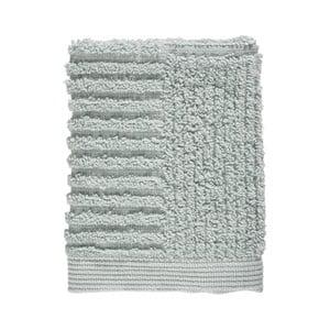 Světle šedozelený ručník ze 100% bavlny na obličej Zone Classic Dust Green, 30x30cm