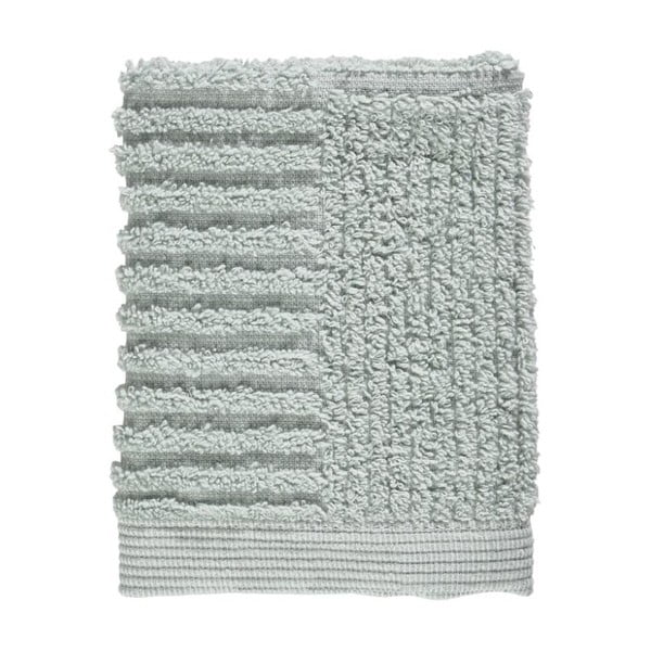 Svetlosivozelený uterák zo 100% bavlny na tvár Zone Classic Dust Green, 30×30 cm