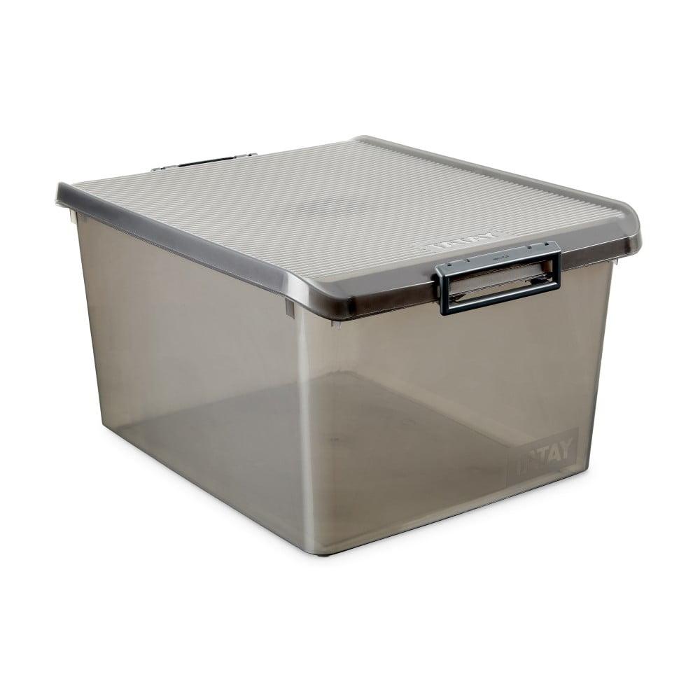 Šedý úložný box s víkem Ta-Tay Storage Box, 35 l