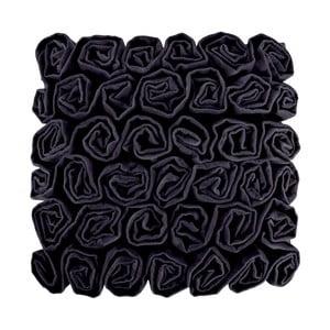 Černý polštář Ragged Rose Rufus