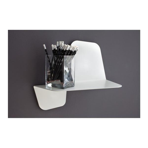 Bílá nástěnná police MEME Design Flap, délka60cm