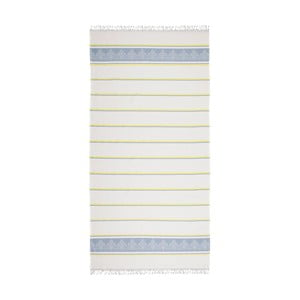 Prosop hammam Deco Bianca Loincloth Light Blue, 80 x 170 cm, albastru - bej