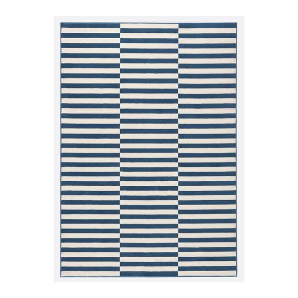 Modrobílý koberec Hanse Home Gloria Panel, 80x200cm