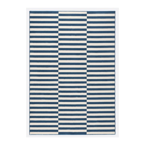 Modrobílý běhoun Hanse Home Gloria Panel, 80x300cm