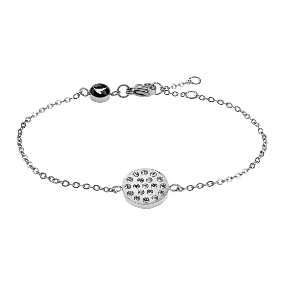 3e431a862 Dámský náramek stříbrné barvy z nerezové oceli Emily Westwood Crystal