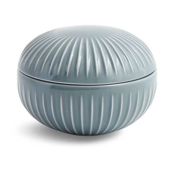 Šedá porcelánová dóza Kähler Design Hammershoi, ⌀ 11,5 cm