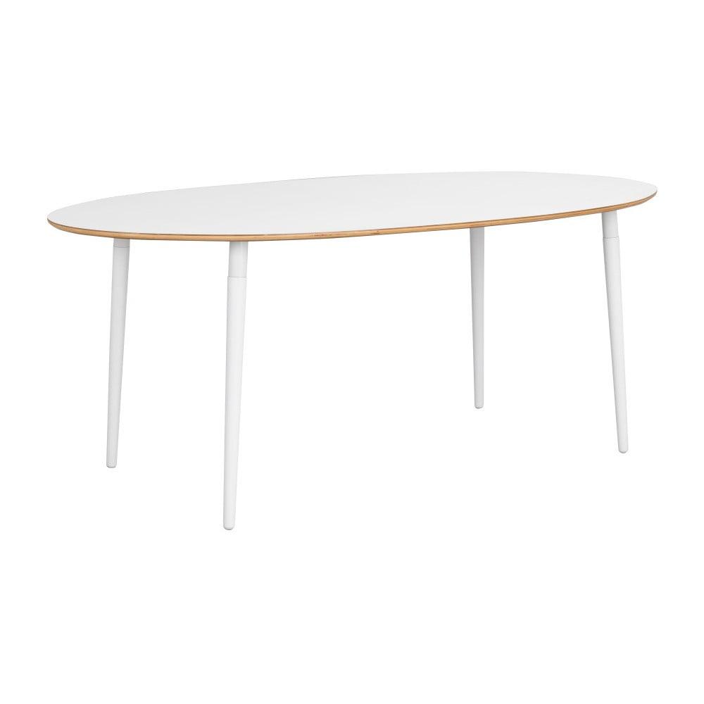 Bílý jídelní stůl Rowico Adelbert